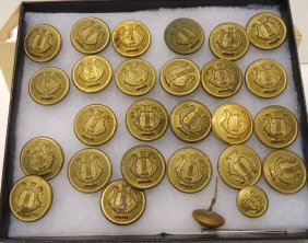 Lot Of Brass Band Buttons