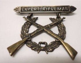 Sterling Us Army Rifleman Medal