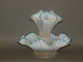Molded Glass Epergne
