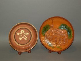 2 Pottery Plates