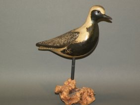 Gibian Black Bellied Plover Carving