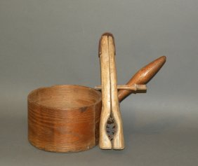 Wooden Corn Sheller & Measure