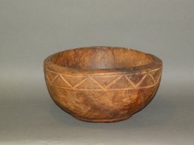Footed Burl Bowl