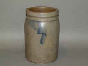 Cobalt Decorated Stoneware Jar