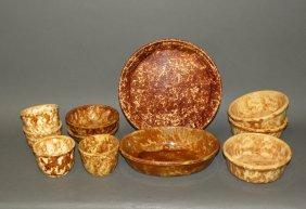 11 Pieces Rockingham Glazed Yelloware