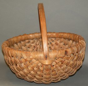 Handled Oak Splint Basket