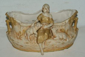 Royal Dux Art Nouveau Figural Centerpiece With Impr