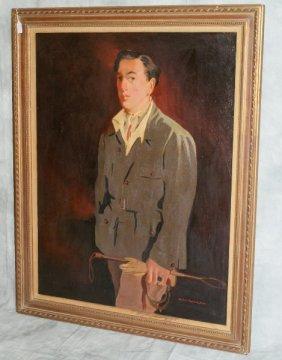 """Portrait Of Oscar Wilde Signed""""Winifred Hempstead"""