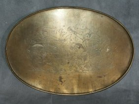 Antique Bronze Chinese Tray