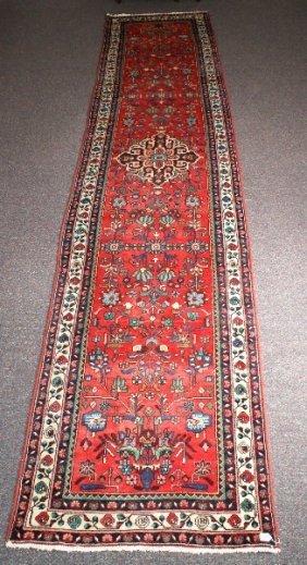 Antique Persian Hamadan Runner. 16'6 X 3'5