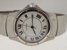 Cartier SS Round Panthere Automatic.