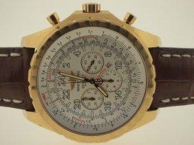 Breitling Mens 18k Bentley Chronograph 24 Hour.