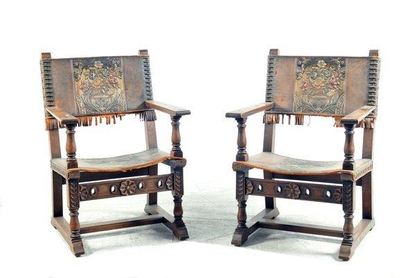 Par de sillones estilo renacentista franc s lot 187 - Sillones estilo frances ...