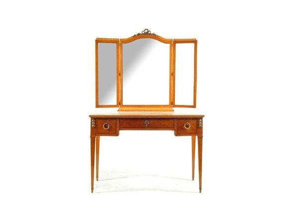 Tocador con espejo estilo imperio elaborado en madera - Tocador con espejo ...