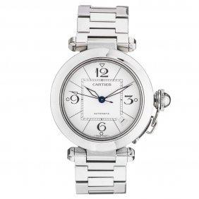 Reloj Cartier Pasha Caja Y Brazalete En Acero.