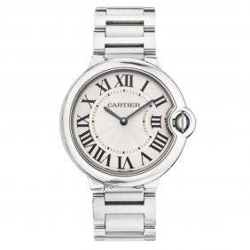 Reloj Cartier Ballon Bleu Caja Y Brazalete En Acero.