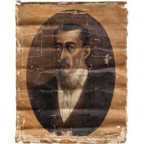 Retrato De Caballero MÉxico, Siglo Xix. Óleo Sobre