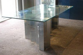 PAUL EVANS CITYSCAPE GLASS TOP TABLE