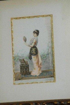 VICTORIAN PNTG. BY LOUIS-ROBERT CUVILLIO 1848-1931