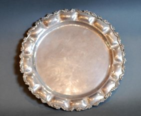 Vintage Mexican S.s. Round Tray