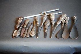 Lot Of 14 Asst S.s. Handled Ladies Vanity Pieces