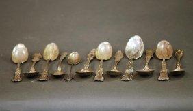 Lot Of 12 Asst S.s. Souvenir Spoons