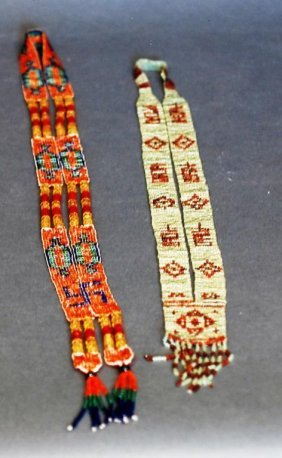 Lot Of 2 Native American Indian Beaded Necklaces