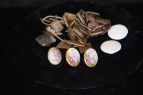 Lot Of 36 Assorted 19thc Antique Buttons