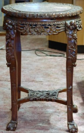 Antique Chinese Marble Top Pedestal