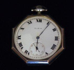 1930's Elgin / Illinois S.s. Art Deco Pocket Watch