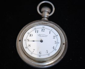 Antique Coin Silver Open Face Pocket Watch