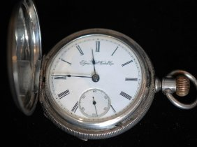 Antique Coin Silver Closed Face Pocket Watch