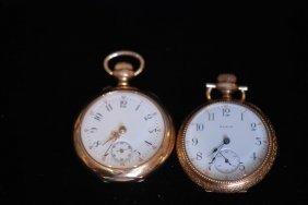 Lot Of 2 Antique Open Face Ladies Watches