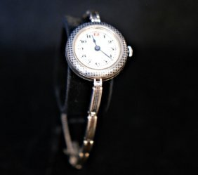 Vintage Swiss Made .800 Silver Ladies Watch