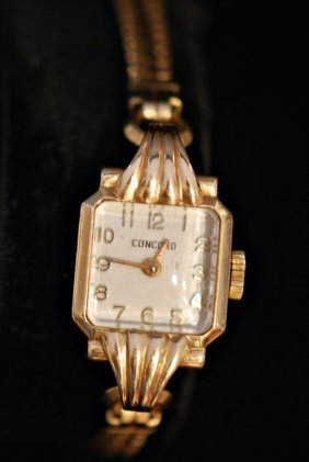 Vintage Concord 14k Gold Ladies Watch
