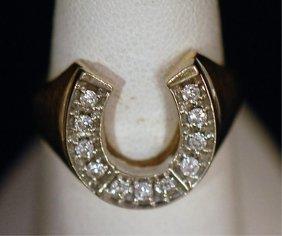 Vintage 14k Man's Horseshoe Ring