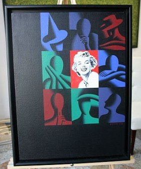 KOSTABI, MARK - CANVAS Orig- 1998 - 18 X 24 Signed