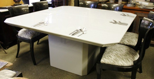 large square white dining table 1