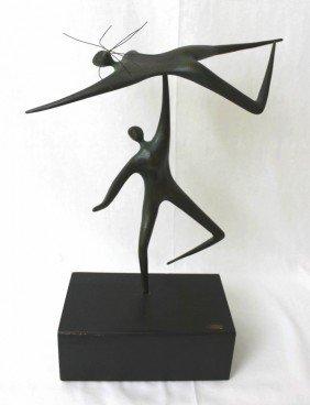 C. Jere Bronze Acrobats Sculpture 1967