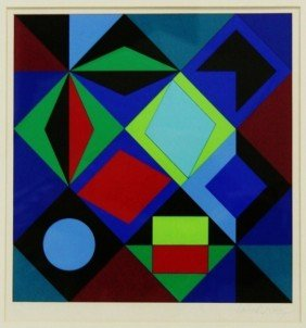 "Victor Vasarely Serigraph ""Sikra-MC"""