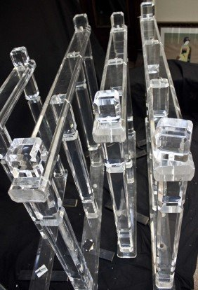 Set Of 4 Lucite Railings