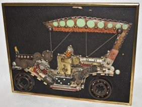 Found Art Replica Of 1907 Oldsmobile