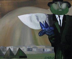 Naftali Bezem (israeli B.1924)rabbi Holding A Fish