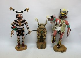 (3) Kachina Dolls Elmer Adams