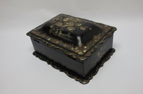 19th C English Victorian Mother Of Pearl Tea Caddy