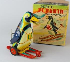Japan Tin Percy The Penguin In Box