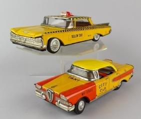 Japan Tin Taxi Cab Edsel & Buick