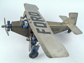 Ford Tri Motor Plane Pressed Steel Mettoy