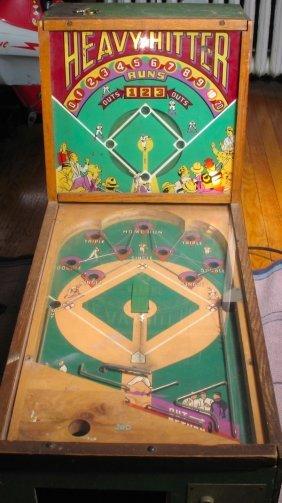 1930s Heavy Hitter Baseball Pinball Machine Lot 136