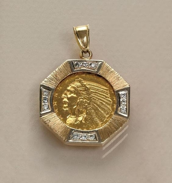 651 gold coin and pendant lot 651